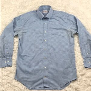 LORENZO UMO Trim Fit Blue Button Down Shirt